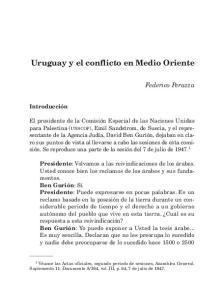 Uruguay y el conflicto en Medio Oriente