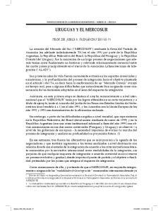 URUGUAY Y EL MERCOSUR