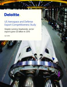 US Aerospace and Defense Export Competitiveness Study
