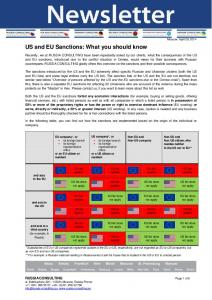 US and EU Sanctions: What you should know