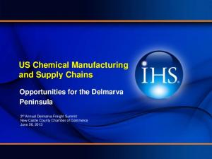 US Chemical Manufacturing and Supply Chains
