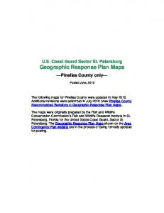 U.S. Coast Guard Sector St. Petersburg Geographic Response Plan Maps. Pinellas County only