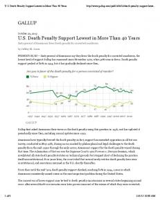 U.S. Death Penalty Support Lowest in More Than 40 Years