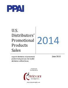 U.S. Distributors Promotional Products Sales