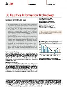 US Equities Information Technology