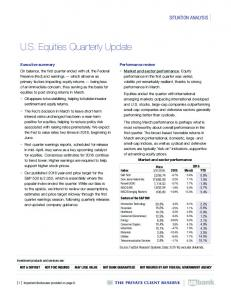 U.S. Equities Quarterly Update
