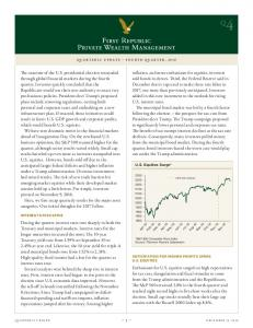 U.S. Equities Surge* QUARTERLY UPDATE FOURTH QUARTER, 2016 INTEREST RATES SPIKE ANTICIPATION FOR HIGHER PROFITS SPURS U.S. EQUITIES. Jul-16