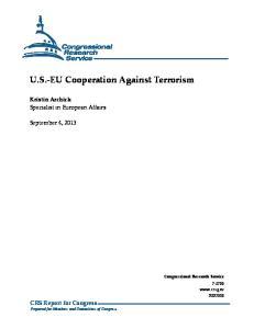 U.S.-EU Cooperation Against Terrorism