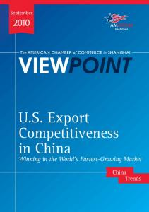 U.S. Export Competitiveness in China