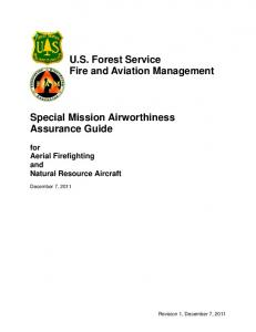 U.S. Forest Service Fire and Aviation Management