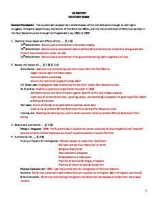 US HISTORY EOI STUDY GUIDE