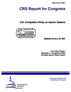 U.S. Immigration Policy on Asylum Seekers