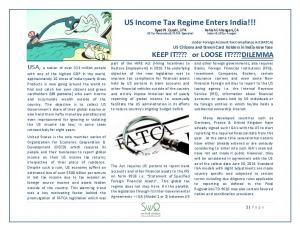 US Income Tax Regime Enters India!!!