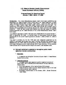 U.S.-Mexico Border Health Commission Texas Outreach Office (TORO)