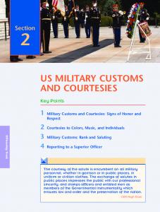 US MILITARY CUSTOMS AND COURTESIES