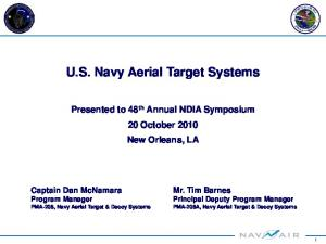 U.S. Navy Aerial Target Systems