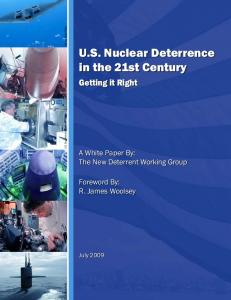 U.S. Nuclear Deterrence in the 21st Century