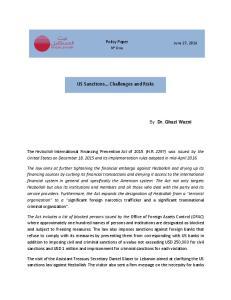 US Sanctions Challenges and Risks