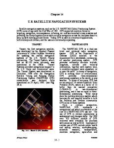 U.S. SATELLITE NAVIGATION SYSTEMS