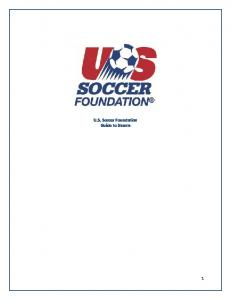 U.S. Soccer Foundation Guide to Grants