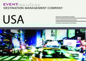 USA DESTINATION MANAGEMENT COMPANY. Full service event planning company. Groups, Corporate travels and Incentives