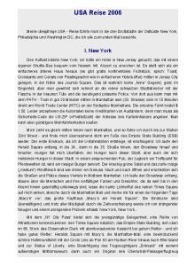 USA Reise I. New York