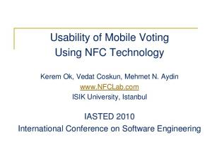 Usability of Mobile Voting Using NFC Technology