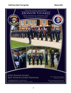 USAF Honor Guard Training Guide February 2010