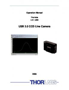 USB 2.0 CCD Line Camera