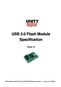 USB 2.0 Flash Module Specification Version 1.6