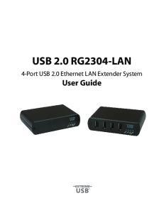 USB 2.0 RG2304-LAN. 4-Port USB 2.0 Ethernet LAN Extender System. User Guide