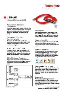 USB-AD Data acquisition system (USB)