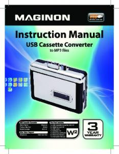 USB Cassette Converter. Warranty Details
