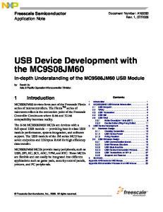 USB Device Development with the MC9S08JM60 In-depth Understanding of the MC9S08JM60 USB Module