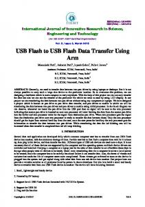 USB Flash to USB Flash Data Transfer Using Arm