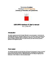 USB GPIB Interface v2 User s manual