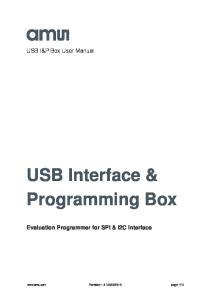 USB Interface & Programming Box