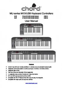 USB Keyboard Controllers. User Manual