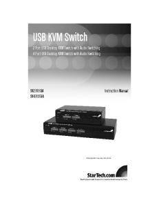 USB KVM Switch. 2 Port USB Desktop KVM Switch with Audio Switching 4 Port USB Desktop KVM Switch with Audio Switching SV231USBA SV431USBA