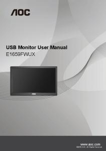 USB Monitor User Manual E1659FWUX