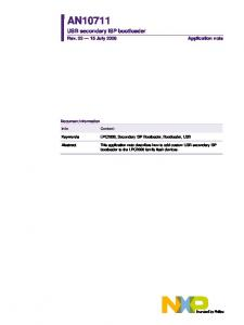 USB secondary ISP bootloader. LPC2000, Secondary ISP Bootloader, Bootloader, USB