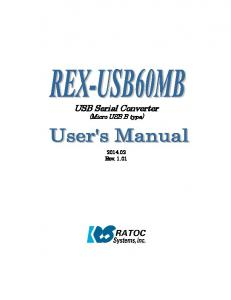USB Serial Converter (Micro USB B type) Rev. 1.01