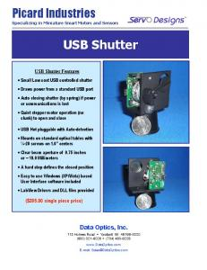 USB Shutter. Picard Industries. Data Optics, Inc. ($ single piece price)