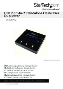 USB to-2 Standalone Flash Drive Duplicator