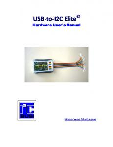 USB-to-I2C Elite Hardware User s Manual
