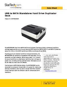 USB to SATA Standalone Hard Drive Duplicator Dock