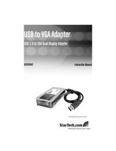USB to VGA Adapter USB 2.0 to VGA Dual Display Adapter