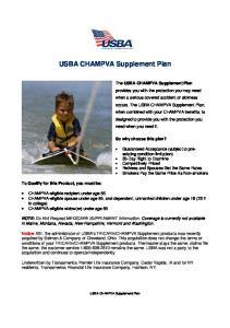 USBA CHAMPVA Supplement Plan