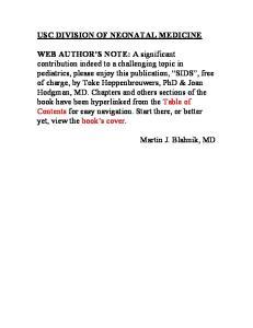 USC DIVISION OF NEONATAL MEDICINE