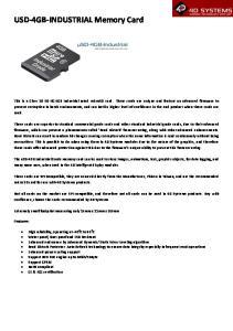 USD-4GB-INDUSTRIAL Memory Card